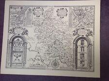 BUCKINGHAMSHIRE 1610 Map by John Speed - Uncoloured