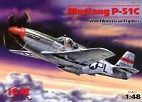 P-51 C MUSTANG (R. 'KIDD' HOFFER &  J. HOWARD USAAF ACES MARKINGS) 1/48 ICM