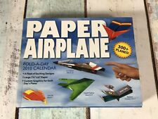 Paper Airplane Fold-A-Day 2010 Calendar Starts In FEB But Excellent Condition
