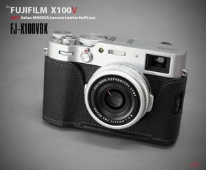 LIM'S Genuine Leather Half Case Dovetail Plate for Fuji Fujifilm X100V Black