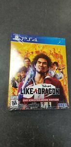 "Yakuza Like A Dragon Day Ichi Steelbook Edition Brand New Gold Edition ""PS4"""
