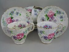 CROWN STAFFORDSHIRE ENGLANDS GLORY 22 PIECE TEA SET.