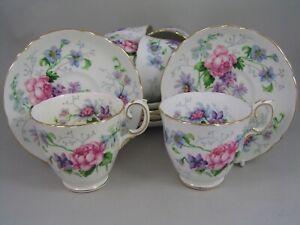 CROWN STAFFORDSHIRE ENGLANDS GLORY 22 PIECE TEA SET.