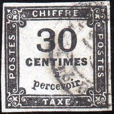 TIMBRE FRANCE   Taxe N° 6    typographié, oblitéré, signé.
