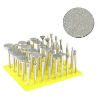 50Pcs/Set Diamond Grinding Head Coated Rotary Burrs Bits Point Mounted Tools Box