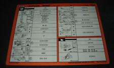 Inspektionsblatt Toyota Tercel Typ AL 20 Werkstatt Service Inspektion Mai 1992!