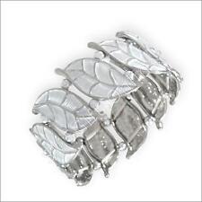 Magnetic Hematite Silver Leaf Bracelet / Bangle