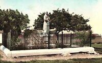 Vintage Statue Father Junipero Serra, Del Monte, CA. Hand Colored Postcard P130