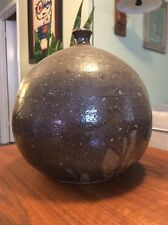 "Mid Century 10"" X 10"" Studio Art Pottery Weed Pot Bud Vase Signed Farnnoy"