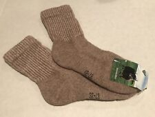 Yak Wool Blend Socks Warm Taupe Size M 37-39 NWT Made In Mongolia