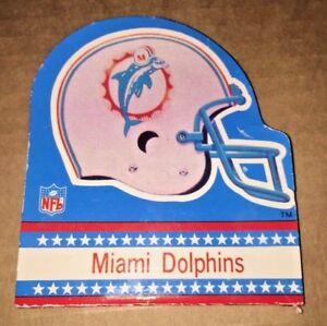 Vintage Miami Dolphins NOTEPAD *UNUSED* AMERICAN FOOTBALL