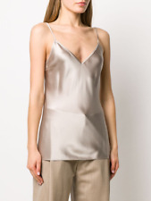 Joseph Long Line Vest Top Silk Satin Size M FR 38 UK 12
