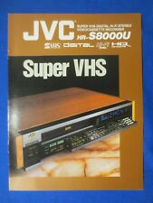 JVC HR-S8000U Super VHS  Hi Fi  Brochure Catalog Original The Real Thing