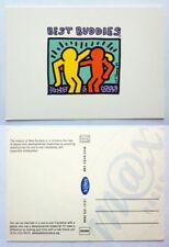 KEITH HARING Postcard !! Best Buddies !! ART !! MaxRacks !! MINT UNUSED NEW