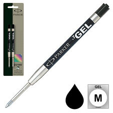 Pk/2 Parker #30525 Ballpoint Refill, Black Medium Gel, 0.7 mm