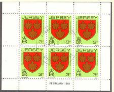 JERSEY 1981 February H-Blatt 3 P Wappen / Coat of Arms mit ESST VFU