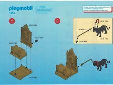 Playmobil Bauanleitung 4256 König mit Thron