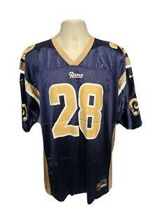 Nike St Louis Rams Marshall Faulk #28 Mens Blue XL Jersey