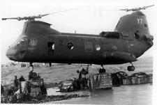 Old Photo. Vietnam. Marine Transport Helicopter Transporting Supplies