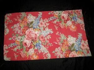 Ralph Lauren Beach House Floral Fuchsia STD Pillowcase Pair Red Flower
