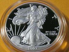 2007-W American Silver Eagle Proof 1 Ounce 999 Fine Silver #5 COA & OGP