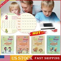 Magic Handwriting Copybook Set Reused Groove Practice Calligraphy Books for Kids