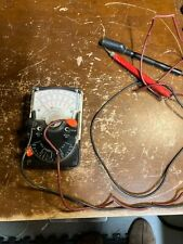Vintage Triplett Model 310 Type 6 Multimeter Electrician Tool With Leads