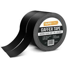 Tape King Gaffers Tape Black (2-Pack) Professional Grade Premium Gaffer, 2 Inch