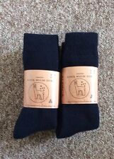 6 PAIRS EXTRA THICK NAVY BLUE FINE LUXURIOUS ALPACA WOOL WORK SOCKS 6-11