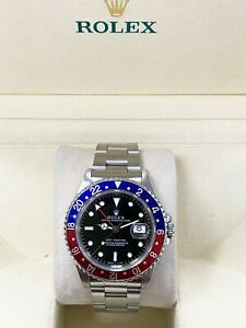 Rolex GMT Master 16700 Pepsi Red and Blue Stainless Steel with Box MINT