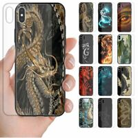 For Samsung Series - Dragon Theme Print Tempered Glass Phone Back Case Cover #1