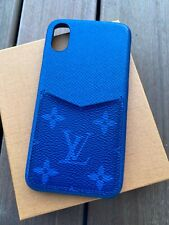 Original Louis Vuitton iPhone X XS Taiga Leder Blau iPhone