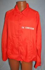 Vintage 80s THE TENNESSEAN Newspaper Nylon Lined JACKET XL TN Volunteer Orange