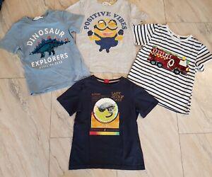 4x T-Shirt Junge Gr. 128 mit Wendepailetten Minion H&M etc.