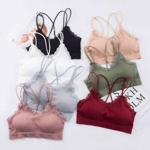 Women Lace Bra Girls Lingerie Underwear Soft Bra Gym Fitness Push Up Yoga Bra