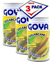 3 Pack - Goya Sugar Cane Guarapo de Caña 11.8 Fl Oz each