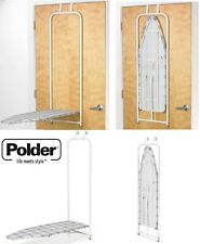 Polder Over The Door Space Saving Folding Ironing Board Foldable With Cover New