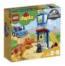 Retired* Lego Duplo Jurassic World T. Rex Tower #10880 Complete 21 Pcs. 2018