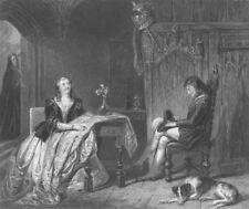 WALTER SCOTT. Roland Graeme, Catherine Seyton. Abbot 1836 old antique print