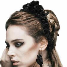 Cinco Gótico Black Roses Pelo Banda Diadema Elástica de Mujer Accesorios Headwear