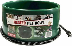 FI HEATED ELECTRIC DOG CAT PET WATER BOWL OUTDOOR WATERER 1.5 GALLON GREEN
