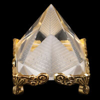 1Pc Feng Shui Egypt Egyptian Crystal Clear Pyramid Ornament Home Decorat np