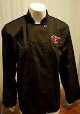Chef Works Yin Yang Shirt Uniform Double Button Front Black Sushi Cook Large