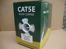 Bulk Plenum 1000ft Cat5e 100% Copper Solid UTP 4 Pairs Cable - Efficient Cables