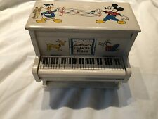 Vintage Walt Disney Piano Music Jewelry Box Mickey Mouse Donald Duck Pluto