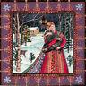 YULE CHRISTMAS GREETING CARD Badger Bliss PAGAN GODDESS SOLSTICE WENDY ANDREW