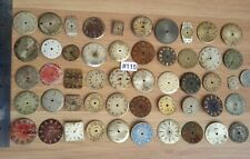 #115/ 50 Vintage/Antique Clock Faces for Repair/Parts, Steampunk, Altered Art.