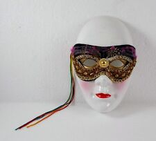 Porzellan Wandmaske zum Aufhängen, ca. 19 x 12 cm