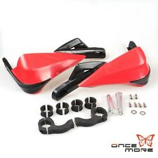 Red Dirtbike 22mm-28mm Brush Bar Hand Guards For Honda CR 125R 250R 450R 500R