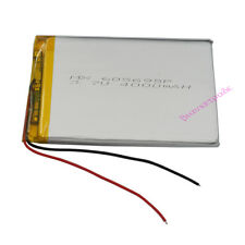 3.7V 4000mAh Polymer rechargeable Li Battery For GPS Power bank Tablet PC 605695
